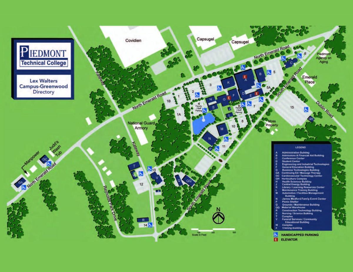Trident Tech Campus Map Aiken Tech Campus Map | Metro Map