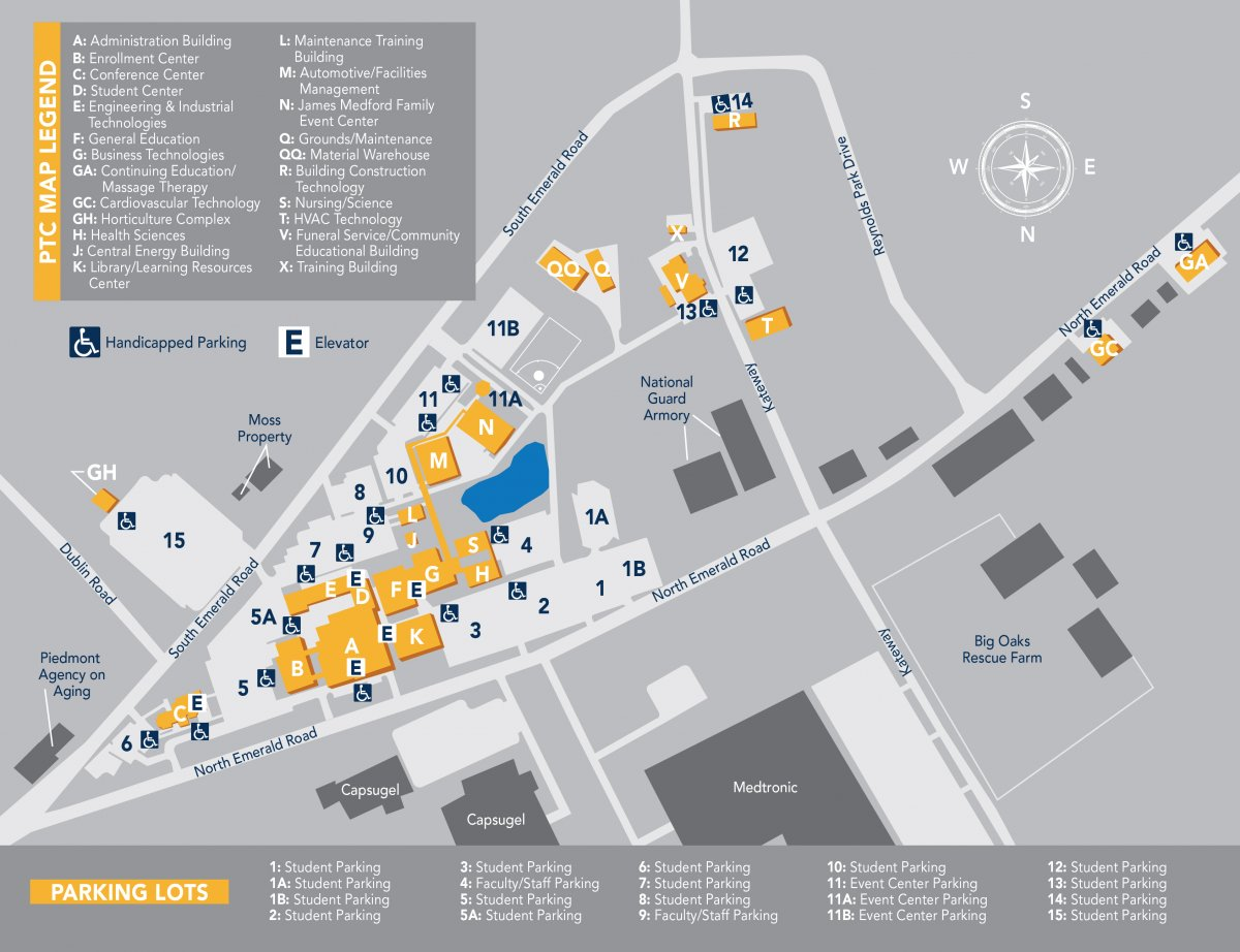 Lander Campus Map.Support The Foundation Piedmont Technical College