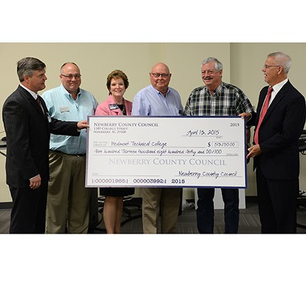 Newberry County Council Donation