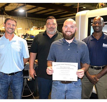 Austin Morris Earns Apprentice Toolmaker Certificate
