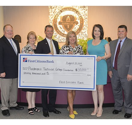 First Citizens Bank Donation to Piedmont Tech