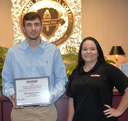 Grainger Awards Scholarship to Alexander Hester of Ninety Six