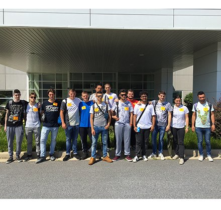 Italian Students Visit Piedmont Tech for Training and Tours