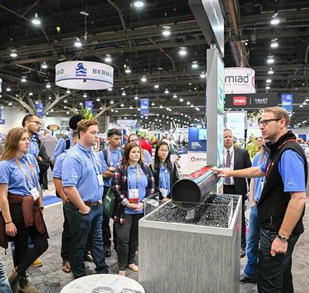 Kellan Hamrick irrigation conference in Las Vegas