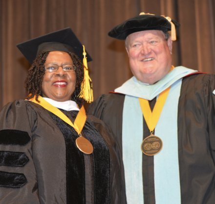 Jackie Mathis and Dr. Ray Brooks