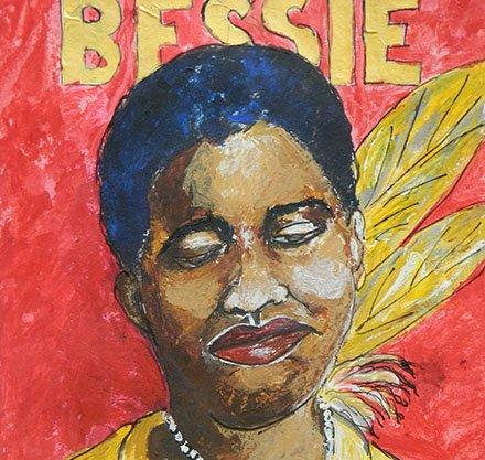 "John Pendarvis painting ""Bessie"""