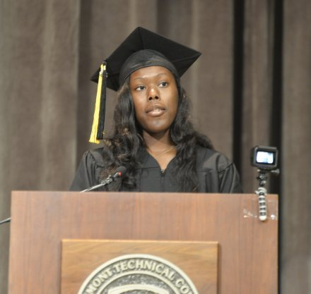 Graduation speaker T'Laysha Creswell